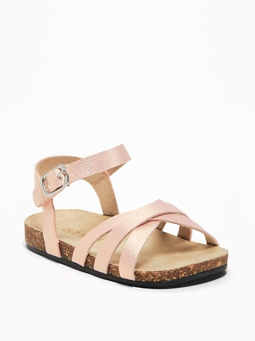 Metallic Faux Leather Strappy Sandals For Baby Baby Girl Shoes Old Navy Baby Girl Strappy Sandals