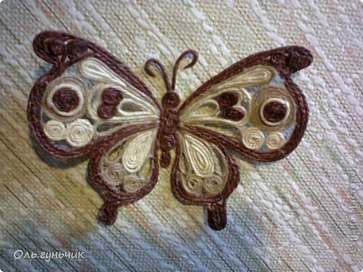 How to Make Beautiful Filigree Butterfly with Yarn | iCreativeIdeas.com Follow Us on Facebook --> https://www.facebook.com/iCreativeIdeas: