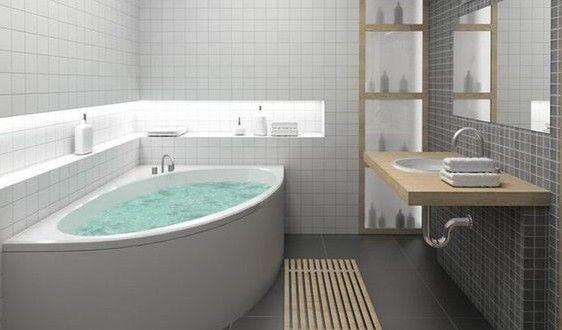 Kleine Und Moderne Badezimmer Mit Eckbadewanne Eckbadewanne