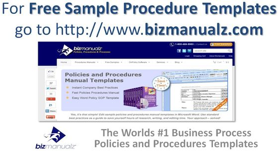 Free Sample Procedure Templates  Business Processes