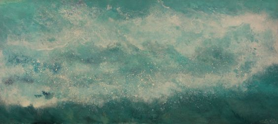 Roaring Welsh Wave soon to be on 'the wall of waves' at Breathing Colours Gallery, Balmain