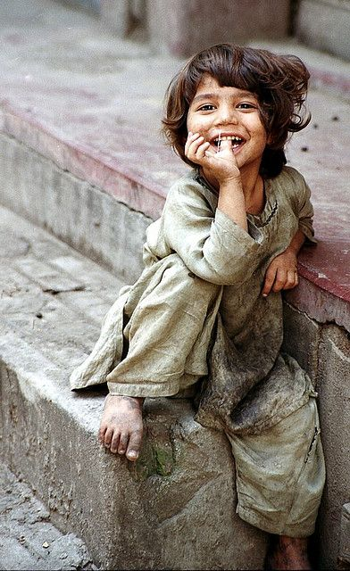 The sheer joy on this child's face is a salutary, humbling lesson to us all