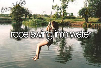 I've already done this many times. The last time I did it I fell into the river and I didn't go back...