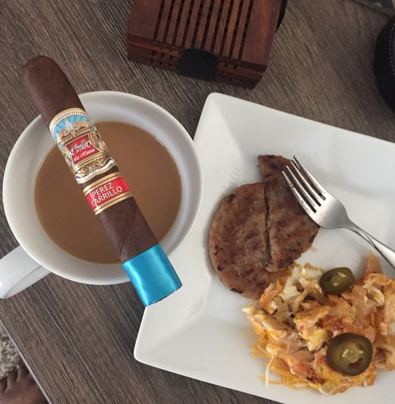 Perez Carrillo, migas & coffee... #cigars
