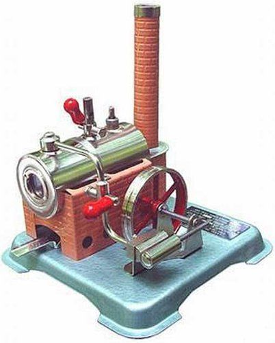 "Jensen Steam Engine Dry Fuel Heated 76 by American Science & Surplus. $139.95. Build a real head of live steam in the boiler, ease the throttle open and watch the engine take off. The stationary steam plants have nickel plated brass horizontal boiler, water gauge, whistle, safety valve, throttle, 3"" dia flywheel and power takeoff pulley. Our dry pellet fuel model (includes 20 fuel pellets) has a single action horizontal piston engine and comes as a kit. It requires about..."