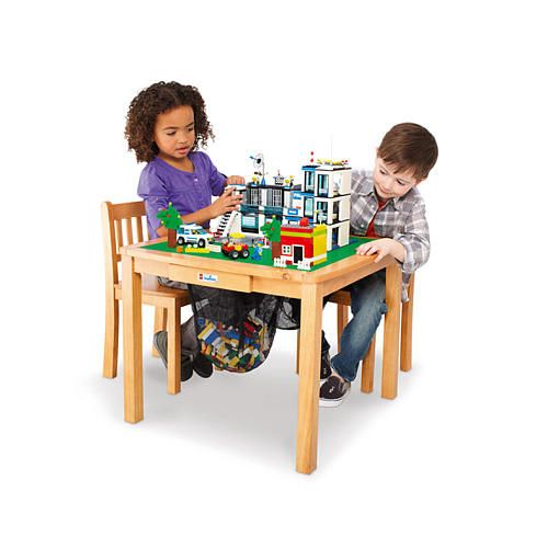 The Imaginarium Lego Activity Table And, Wooden Lego Table With Chairs