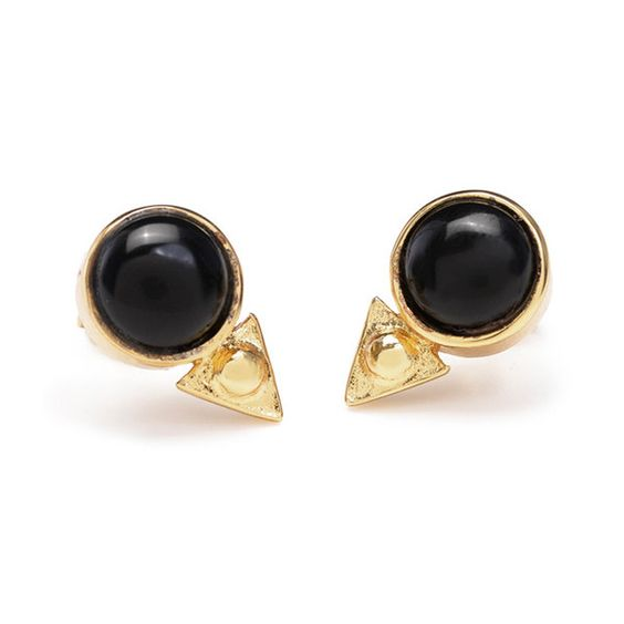 Earth Amulet Studs // Onyx