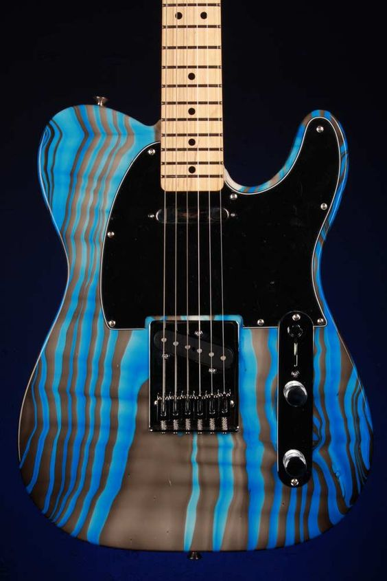 small white mouse fender telecaster electric guitar with swirl custom paint job fender. Black Bedroom Furniture Sets. Home Design Ideas