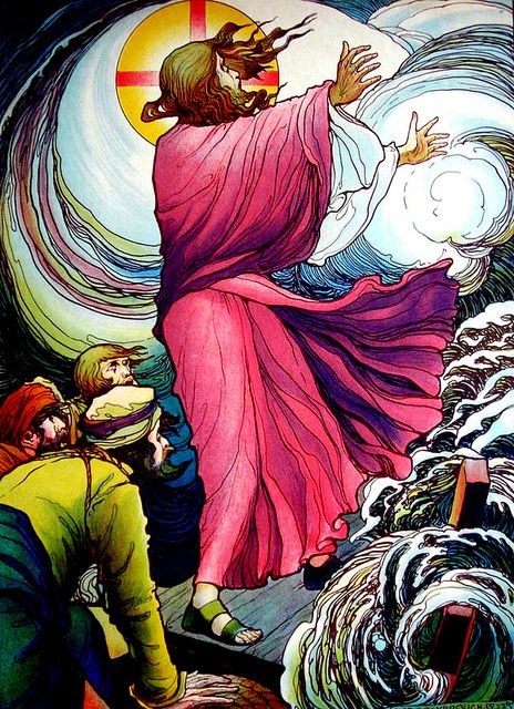 Jesus Stills The Storm by Artist Jos Speybrouck. (1891-1956):