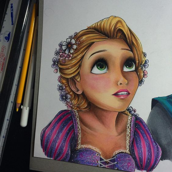 Woow. The best drawing of Rapunzel - Tangled
