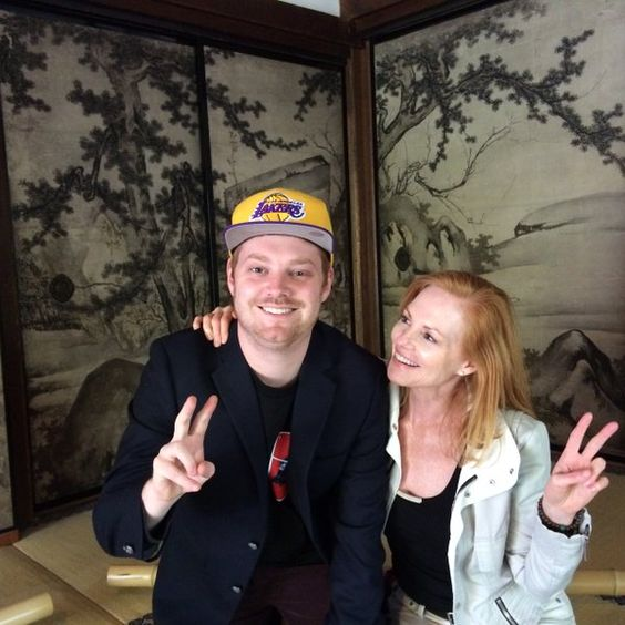 Marg Helgenberger and his son (em)