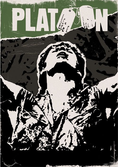 Platoon Oliver Stone war movie poster print