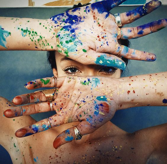 Painted hands: