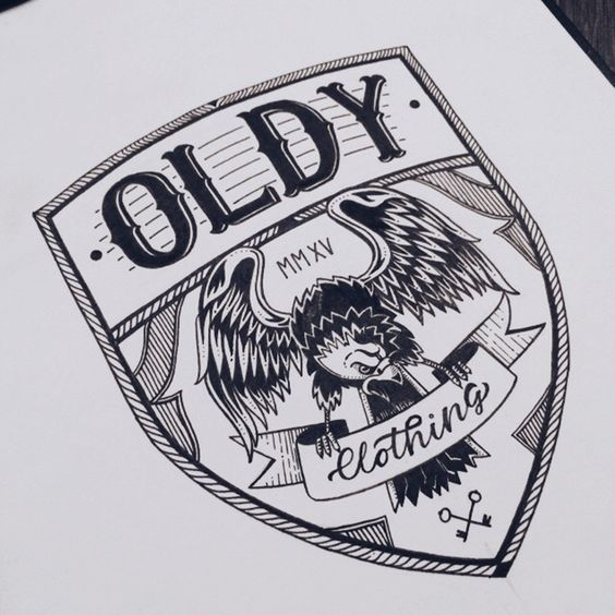 A collection of hand drawn artworks, logotypes, crests, marks and monograms.Everything is created with pencil, ink and paper.