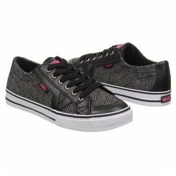Athletics Vans Women's Tory Black/Pink Shoes.com