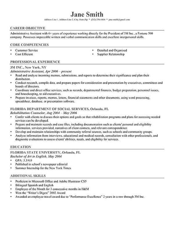Graphic Design #Intern Resume Example #Student (resumecompanion - core competencies resume examples