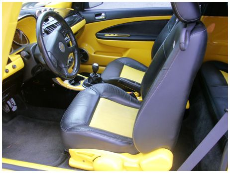 Chevy Cobalt Ss Yellow And Black Interior Custom | Auto Addiction Interiors  | Pinterest
