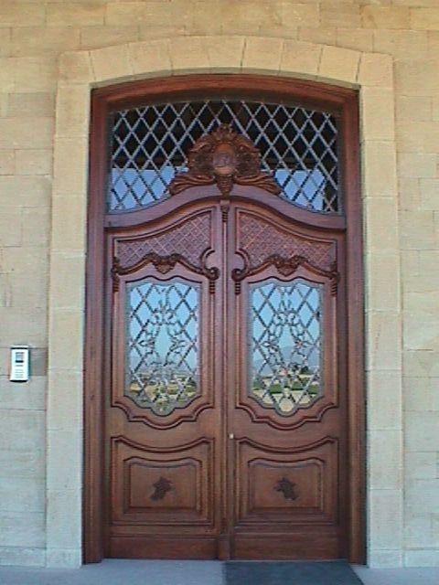 Vidriera para la puerta de entrada de bodegas dinast a - Vidrieras para puertas ...