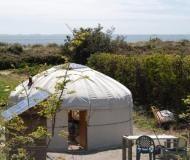 Naturfreundliche Jurte auf den Scilly Inseln in Cornwall, UK