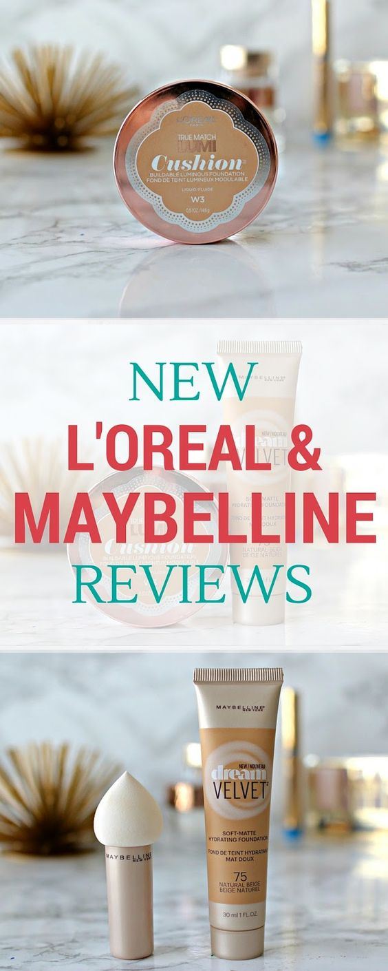 L'Oreal Lumi Cushion & Maybelline Dream Velvet Foundation Reviews