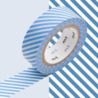 MT Stripe Light Blue Washi Tape