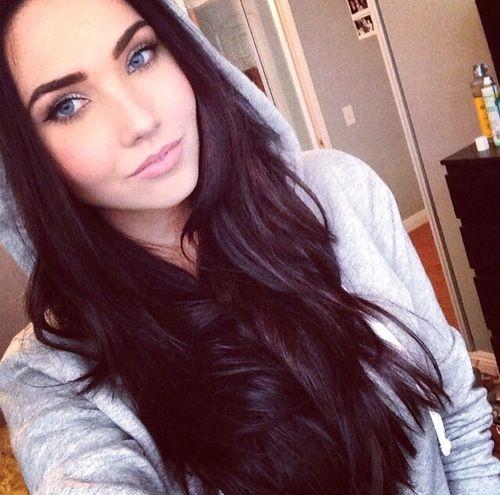 hair blue and blue silena beauregard warm makeup goals long dark hair ...