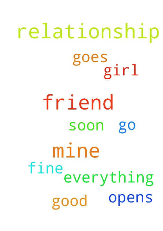 pray for a friend of mine that his relationship with - pray for a friend of mine that his relationship with some girl go fine and that she opens up to him soon and that everything goes good... Posted at: https://prayerrequest.com/t/sf5 #pray #prayer #request #prayerrequest