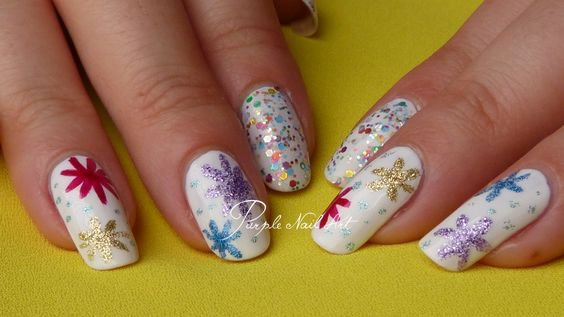 Nail art Feu d'artifice