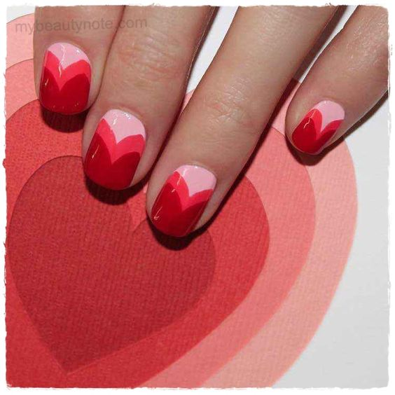 70+ Easy crazy valentines day nail arts design ideas 2019 – Page 12 – My Beauty Note