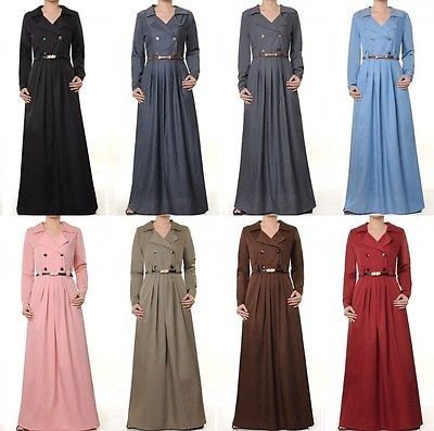 Fantastic MuslimKaftanWomenLongSleeveCasualShirtDressIslamicTopsBlouse
