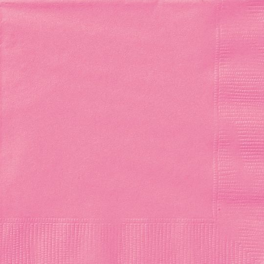 20ct Neon Pink Beverage Napkins