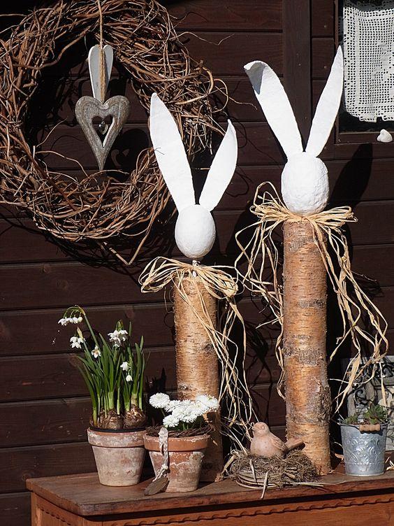 hasen aus birkenst mme und gipskopf ohren ostern pinterest auf dem land kaninchen und ostern. Black Bedroom Furniture Sets. Home Design Ideas