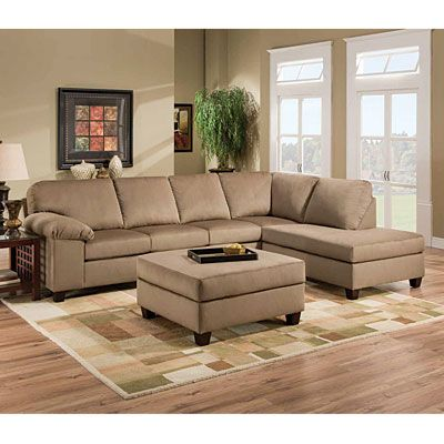 Simmons mini cord amber 2 piece sectional living room - Simmons living room furniture sets ...