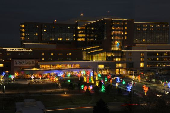Christmas lights at Children's Hospital Colorado, ranked among the top 10 large employers in The Denver Post's Top Workplaces 2013 #childrenscolo #CUHSLibrary:
