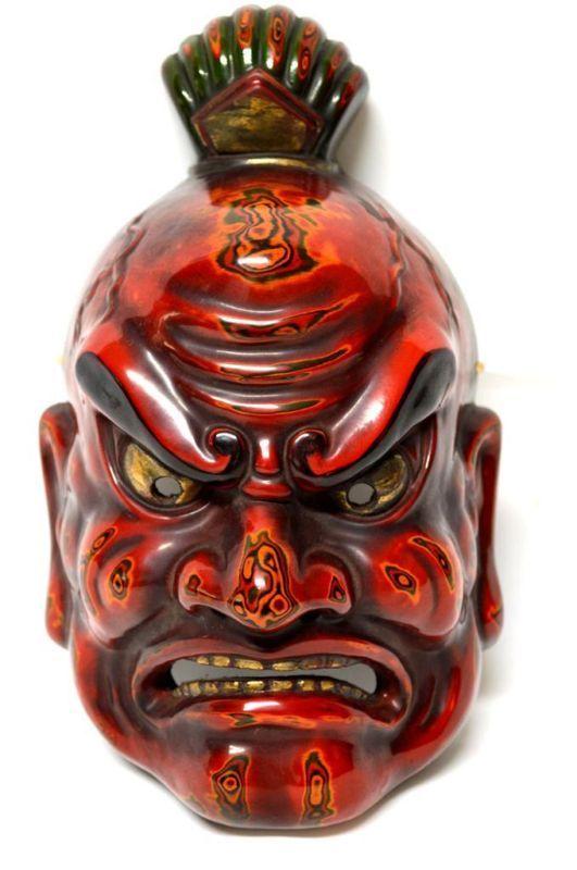 Japanese Traditional Mask NIO Agyo Type God Buddha Noh Kagura Kabuki Demon