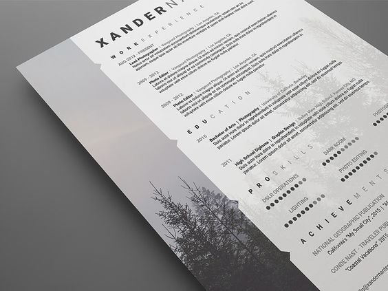 12 best 15+ Photographer Resume Template Word, PSD Format images - commercial photographer resume