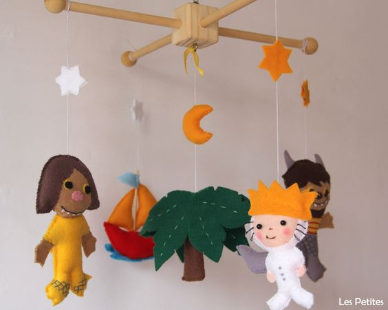 Baby Mobile - Baby Crib Mobile - Where the Wild Things Are Mobile - Nursery Monsters Mobile Book Story-where the wild things are baby mobile by LesPetitesshop on Etsy https://www.etsy.com/listing/228923555/baby-mobile-baby-crib-mobile-where-the