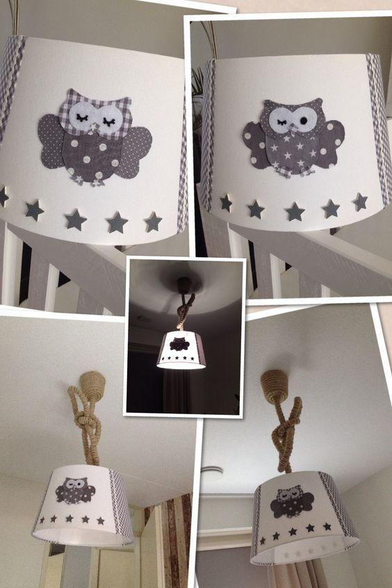 Lamp babykamer met uiltjes