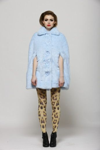 World Built on Beauty Cape-Blue Fur