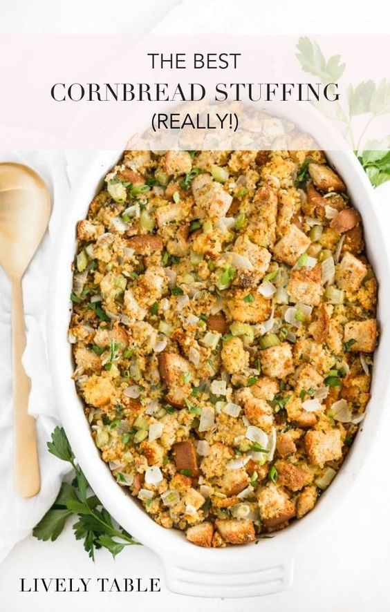 THE Best Southern Cornbread Stuffing