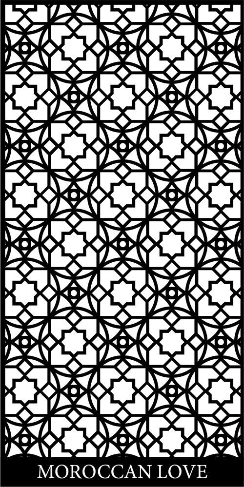 Moroccan Screen Design Pattern dxf File Free Download | Dxf