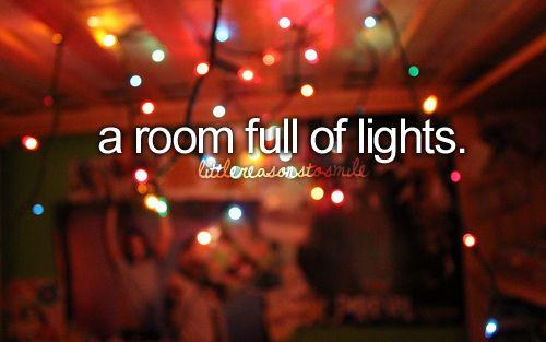 a room full of lights.