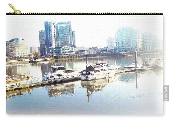 Carry-all Pouch featuring the photograph Imperial Wharf Marina by Judi Saunders.