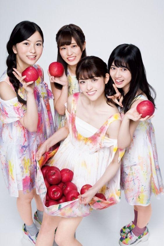 りんごを持った松村沙友理