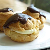 CREAM PUFFS WITH FRENCH CUSTARD by Gail Gundersen