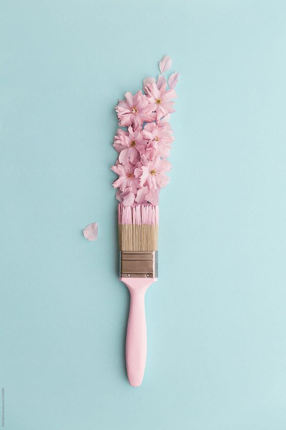 Paintbrush With Cherry Blossoms Download this high-resolution stock photo by Ruth Black from Stocksy United.