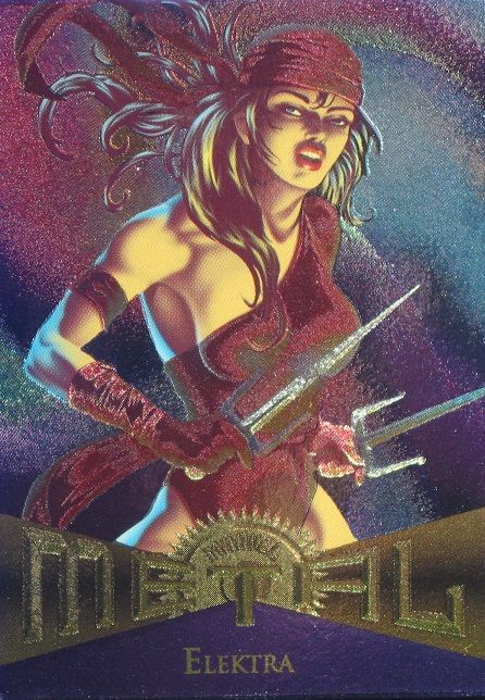Elektra 1995 Marvel Metal Card Number #30