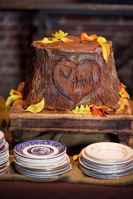 wedding cake tree stump stand groom s cake tree stump with carved initials rustic 26707