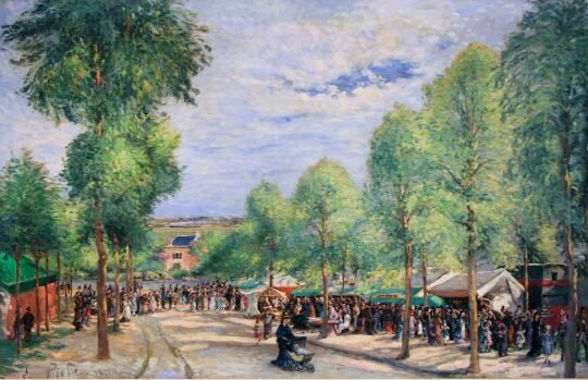 Ludovic PIETTE - Fête, boulevard des Fossés, Pontoise