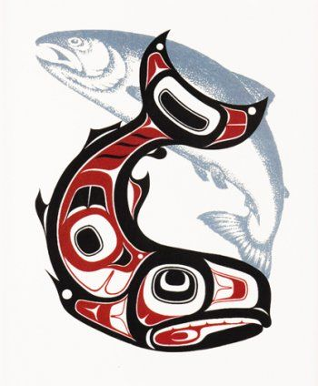 salmon salmon tattoo and haida art on pinterest. Black Bedroom Furniture Sets. Home Design Ideas